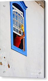 The Window Cleaner Acrylic Print