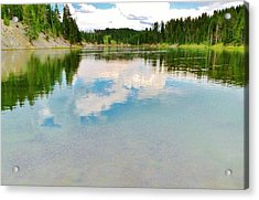 The Yellowstone Acrylic Print by Virginia Lei Jimenez
