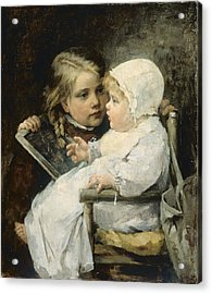 The Young Artist Acrylic Print by Ellen Kendall Baker