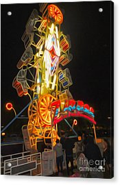 The Zipper - Carnival Ride Acrylic Print by Gregory Dyer