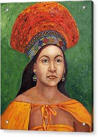 The Zulu Bride Acrylic Print by Enzie Shahmiri