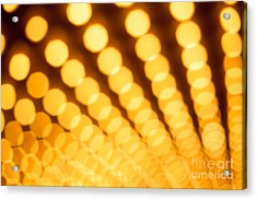 Theater Lights In Rows Defocused Acrylic Print by Paul Velgos