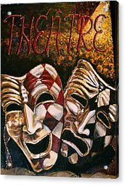 Theatre Masks Comedy And Tragedy Acrylic Print by Martha Bennett