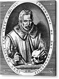 Theodor De Bry (1528-1598) Acrylic Print by Granger