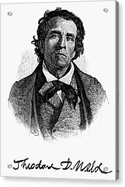 Theodore D. Weld (1803-1895) Acrylic Print by Granger
