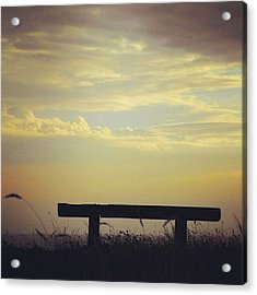 There Is A #bench On A #clifftop In Acrylic Print
