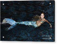 There Is A Mermaid In The Pool Acrylic Print