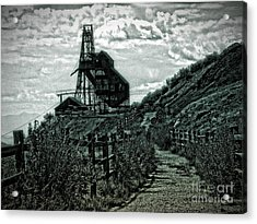 There's Gold In Them Hills Acrylic Print by Christina Perry