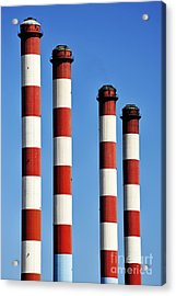 Thermal Powerplant Chimneys Acrylic Print by Sami Sarkis