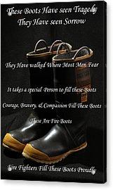 These Boots ... Acrylic Print by Ken  Tucker