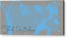 Think Blue Acrylic Print