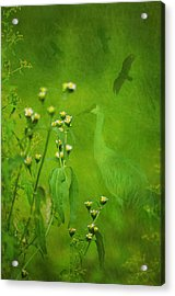 Think Green Acrylic Print