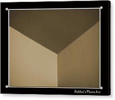 Think Outside Or Inside The Box    Optical Illusion Acrylic Print by Debbie Portwood