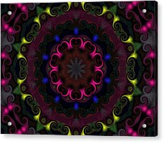 Acrylic Print featuring the digital art Think Pink by Alec Drake
