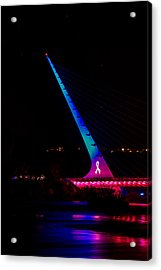 Acrylic Print featuring the photograph Think Pink Sundial by Randy Wood