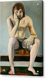 Thinking Guy Acrylic Print by Olin  McKay