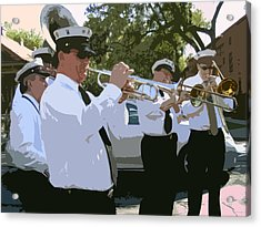 Third Line Brass Band Acrylic Print by Renee Barnes