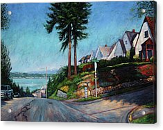 Acrylic Print featuring the painting Thirtieth And Cedar  by Charles Munn
