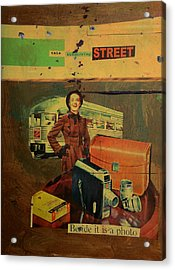 This Dissolving Street Acrylic Print by Adam Kissel