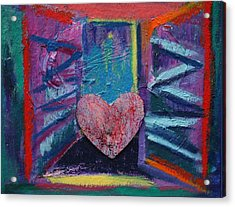 This Heart Wants Out Acrylic Print