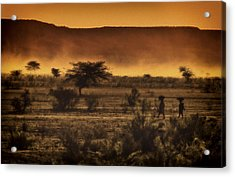 This Is Namibia No. 12 - Walking The Desert Acrylic Print by Paul W Sharpe Aka Wizard of Wonders