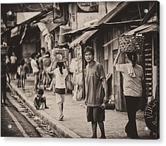 This Is The Philippines No.55 - The Carriers Acrylic Print by Paul W Sharpe Aka Wizard of Wonders