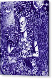This Is Your Brain On Drugs Acrylic Print by Callie Fink
