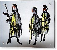 This Masquerade Acrylic Print by Aquira Kusume