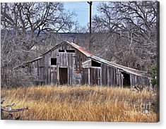 Acrylic Print featuring the photograph This Old Barn by Joe Finney