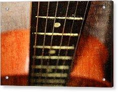 This Old Guitar Acrylic Print by Martina Fagan