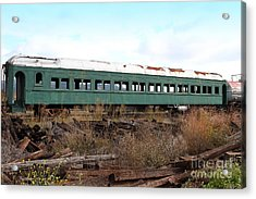 This Old Train Has Seen Better Days . 7d8994 Acrylic Print by Wingsdomain Art and Photography