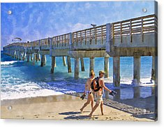 This Side Of Paradise Acrylic Print by Debra and Dave Vanderlaan