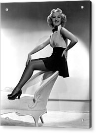 This Way Please, Betty Grable, 1937 Acrylic Print by Everett