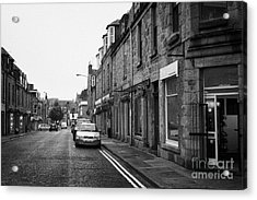 Thistle Street Rows Of Granite Houses And Shops Aberdeen Scotland Uk Acrylic Print by Joe Fox