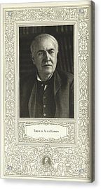 Thomas Edison, American Inventor Acrylic Print by Science, Industry & Business Librarynew York Public Library