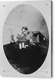 Thomas Edison, American Inventor Acrylic Print by U.S. Department of the Interior