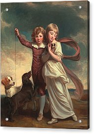 Thomas John Clavering And Catherine Mary Clavering Acrylic Print by George Romney