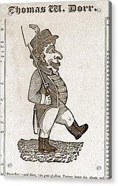 Thomas Wilson Dorr. Caricature Of Dorr Acrylic Print by Everett