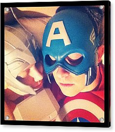 Thor And Captain America. #gay #lovers Acrylic Print
