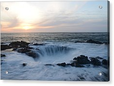 Thor's Well Acrylic Print by Craig Ratcliffe
