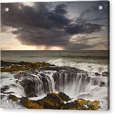 Thor's Well Acrylic Print by Keith Kapple