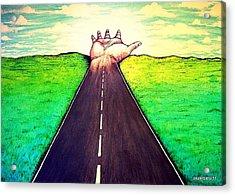 Those Who Follow The Way Acrylic Print by Paulo Zerbato