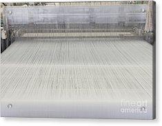 Threads In An Industrial Loom Acrylic Print by Magomed Magomedagaev