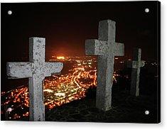 Three Crosses Acrylic Print