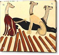 Three Dog Night Acrylic Print by Marie Bulger