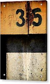 Three Five Split Acrylic Print by Odd Jeppesen
