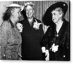 Three Former First Ladies, L-r Bess Acrylic Print by Everett