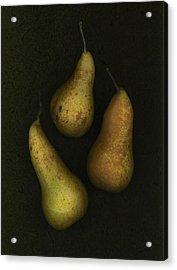 Three Golden Pears Acrylic Print by Deddeda