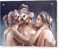 Three Graces Detail Acrylic Print by Geraldine Arata