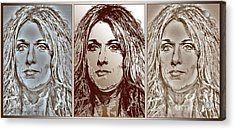 Three Interpretations Of Celine Dion Acrylic Print by J McCombie